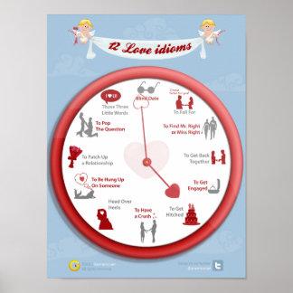 Amor las veinticuatro horas del día: 12 idiomas póster