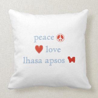 Amor Lasa Apsos de la paz Almohada