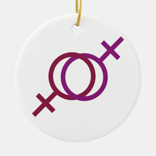 Amor lesbiano ornamentos de navidad
