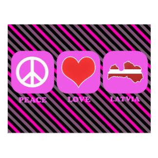 Amor Letonia de la paz Tarjeta Postal