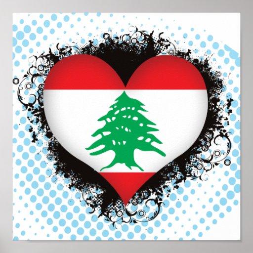 Amor Líbano del vintage I Póster