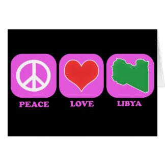 Amor Libia de la paz Tarjetas
