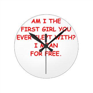 amor libre reloj redondo mediano