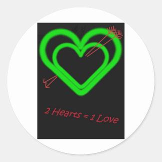 Amor - Liebe Pegatina Redonda