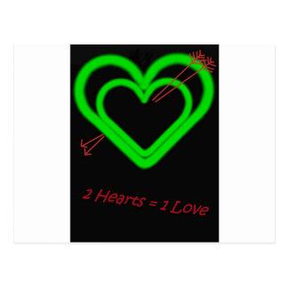 Amor - Liebe Tarjeta Postal