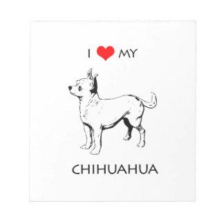 Amor lindo de encargo de I mi chihuahua Bloc De Notas