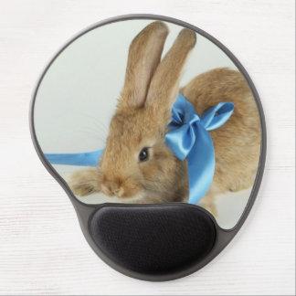 Amor lindo de la paz del conejo del mascota del alfombrilla gel