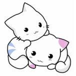 Amor lindo de la paz del mascota del gatito del ga esculturas fotograficas