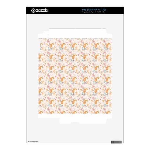 Amor lindo de los corazones de Paisley Skin Para El iPad 2