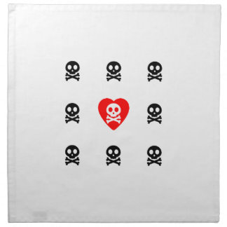 Amor lindo de los cráneos servilletas de papel