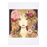 amor lindo del chica del duendecillo de la flor invitación personalizada