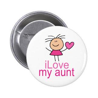 Amor lindo del chica del palillo mi tía Gift Pins