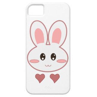Amor lindo del conejito iPhone 5 fundas