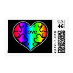 Amor lindo del corazón del arco iris del victorian sello