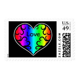 Amor lindo del corazón del arco iris del victorian