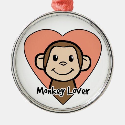 Amor lindo del mono de la sonrisa del clip art del ornamento de reyes magos