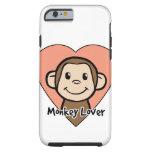 Amor lindo del mono de la sonrisa del clip art del funda de iPhone 6 tough