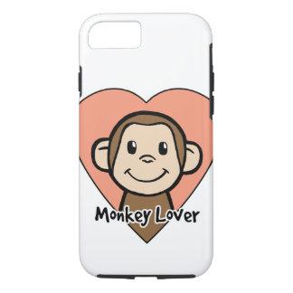 Amor lindo del mono de la sonrisa del clip art del funda iPhone 7