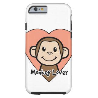 Amor lindo del mono de la sonrisa del clip art del funda resistente iPhone 6