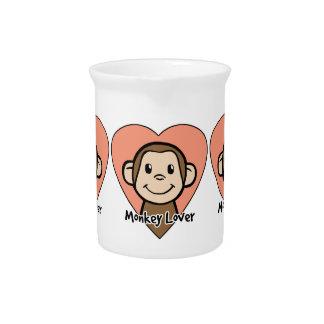Amor lindo del mono de la sonrisa del clip art del jarrones