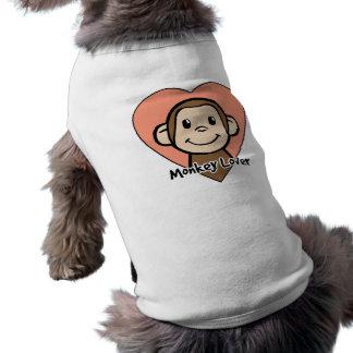 Amor lindo del mono de la sonrisa del clip art del camisas de mascota