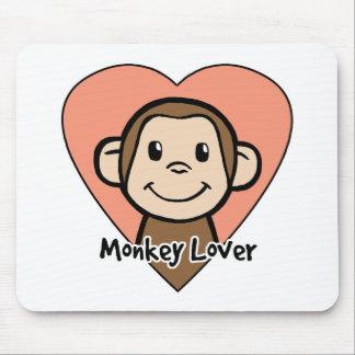 Amor lindo del mono de la sonrisa del clip art del alfombrilla de ratón