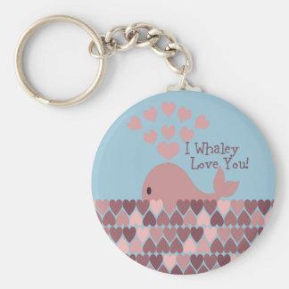 ¡Amor lindo del whaley de I usted! diseño Llaveros Personalizados