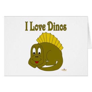 Amor lindo Dinos del dinosaurio I del amarillo del Felicitaciones