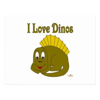 Amor lindo Dinos del dinosaurio I del amarillo del Tarjeta Postal
