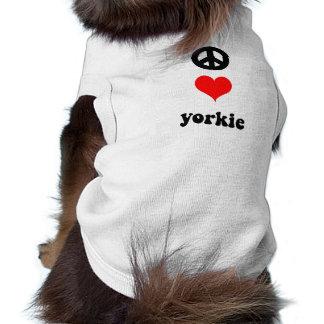 Amor lindo Yorkie de la paz Ropa De Mascota