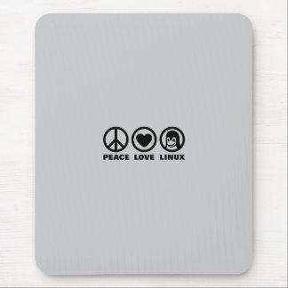 Amor Linux de la paz Mousepad