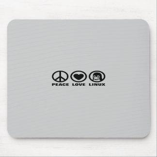 Amor Linux de la paz Alfombrilla De Ratón