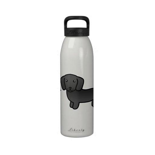 Amor liso negro del Dachshund de la capa Botella De Beber