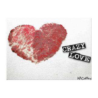 Amor loco impresión en lienzo