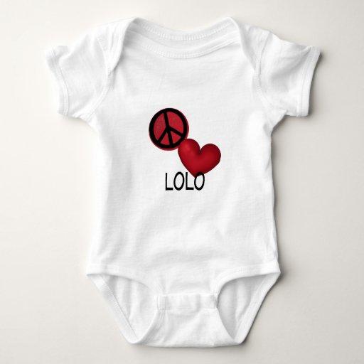Amor Lolo de la paz Body Para Bebé