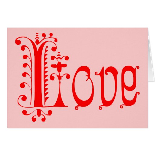 Amor Loopy rojo de lujo Tarjetas