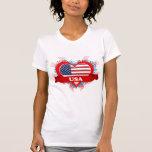 Amor los E.E.U.U. del vintage I Camisetas