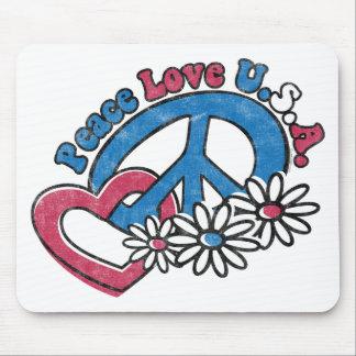 Amor los E.E.U.U. Mousepad de la paz Tapetes De Raton