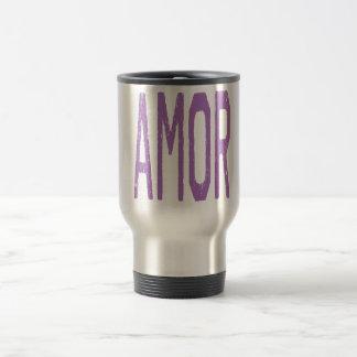 AMOR (Love in Spanish) in Purple Mug