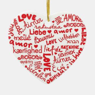 amor.love.liebe… ceramic ornament