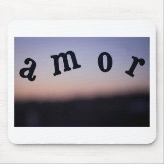 Amor Love palabra foto para el dia de San Valentin Mouse Pad