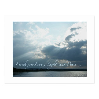 Amor, luz y paz postal