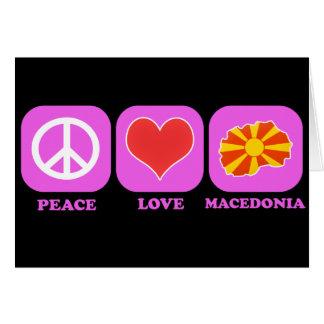 Amor Macedonia de la paz Tarjeta