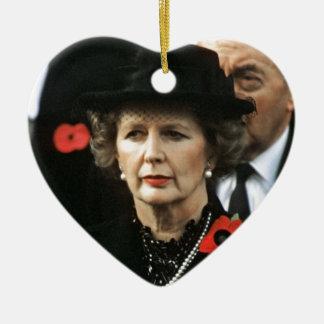 Amor Maggie de Margaret Thatcher I Adorno Navideño De Cerámica En Forma De Corazón