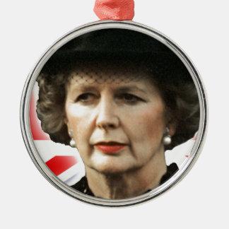 Amor Maggie de Margaret Thatcher I Adorno Navideño Redondo De Metal