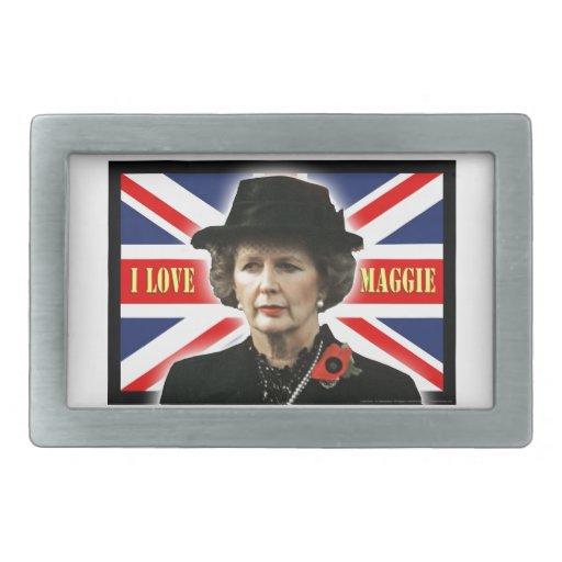 Amor Maggie de Margaret Thatcher I Hebillas De Cinturon Rectangulares