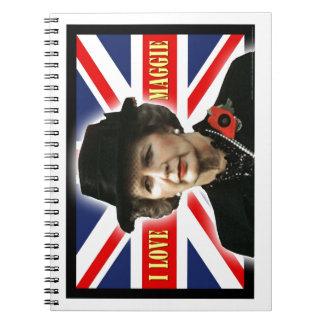 Amor Maggie de Margaret Thatcher I Libros De Apuntes Con Espiral