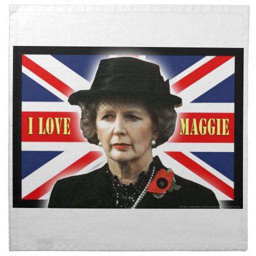 Amor Maggie de Margaret Thatcher I Servilletas De Papel