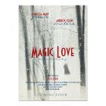 Amor mágico - invitación del estilo del cartel de