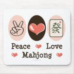 Amor Mahjong Mousepad de la paz Tapete De Ratones